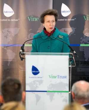 HRH The Princess Royal names Forth Hope